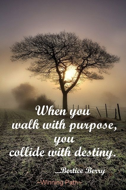 Inspirational Positive Life Quotes When You Walk With Purpose New Purpose Of Life Quotes