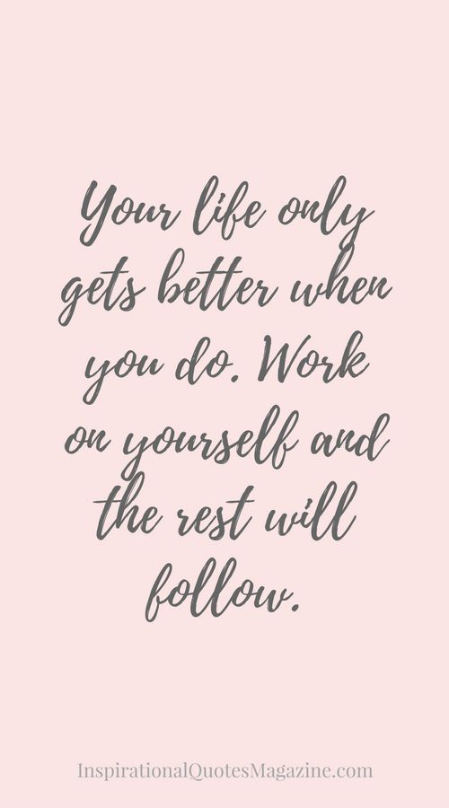 Inspirational quotes about work your life only gets better when as the quote says description solutioingenieria Image collections
