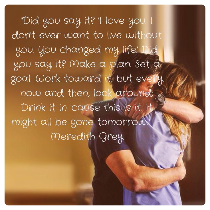 Life Quotes And Words To Live By : Quotes - Meredith Grey - Grey\'s ...