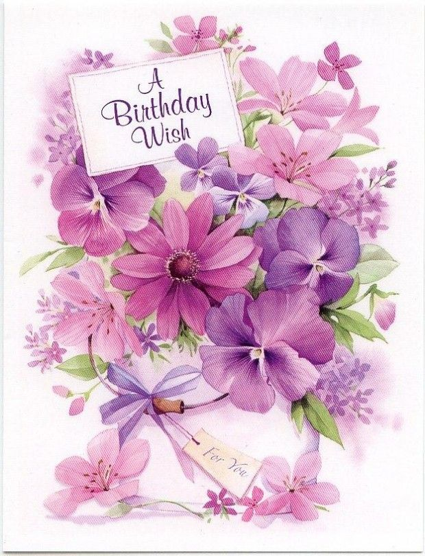 Happy Birthday Cards With Beautiful Flowers Flowers Healthy