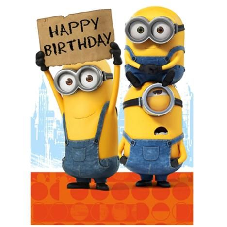 Happy Birthday Sign Minions Card Omg Quotes Your Daily Dose Of