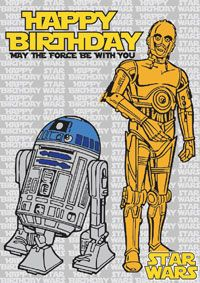 photograph regarding Star Wars Birthday Card Printable titled R2d2 Birthday Card