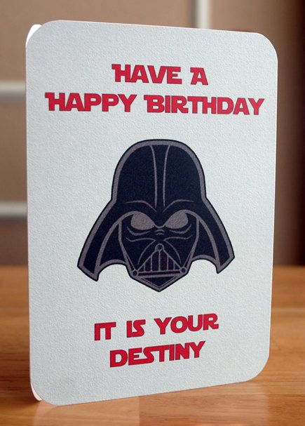 Star Wars Printable Birthday Card Darth By Elletoppdesignworks