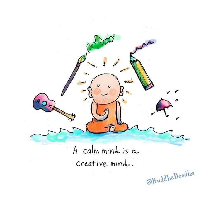 a calm mind is a creative mind omg quotes your daily dose of