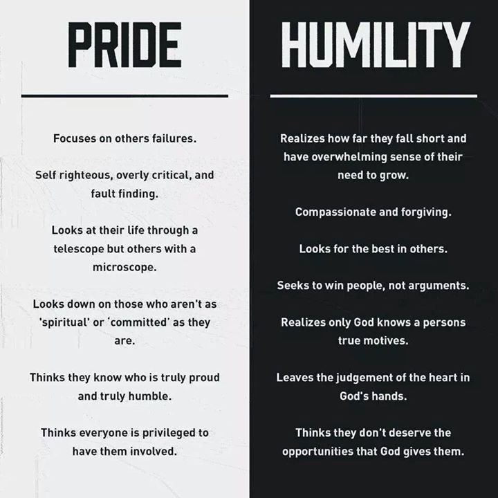 Life Quotes And Words To Live By Pride Vs Humility Something To