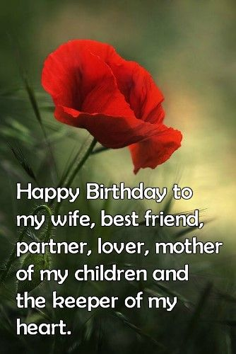birthday wishes for wife romantic and passionate - 334×500