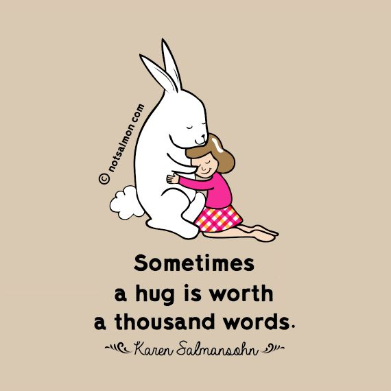 Inspirational Positive Life Quotes Sometimes A Hug Is Worth A