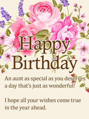 Birthday Quotes : To my Special Aunt – Happy Birthday ...