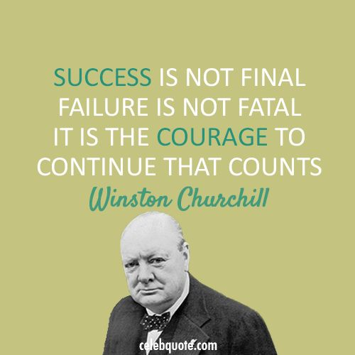 Inspirational Quotes About Failure: Inspirational Quotes About Work : Winston Churchill Quote