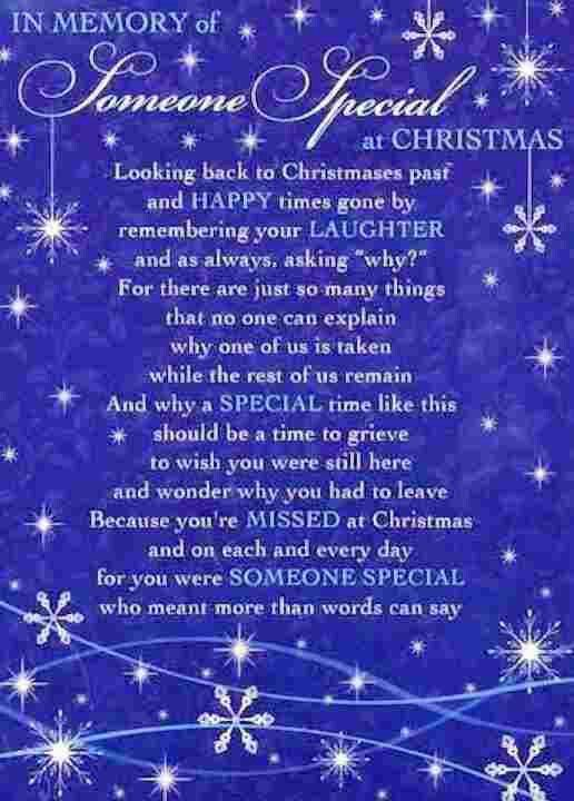 Missing Quotes In Memory Of Someone Special At Christmas Omg