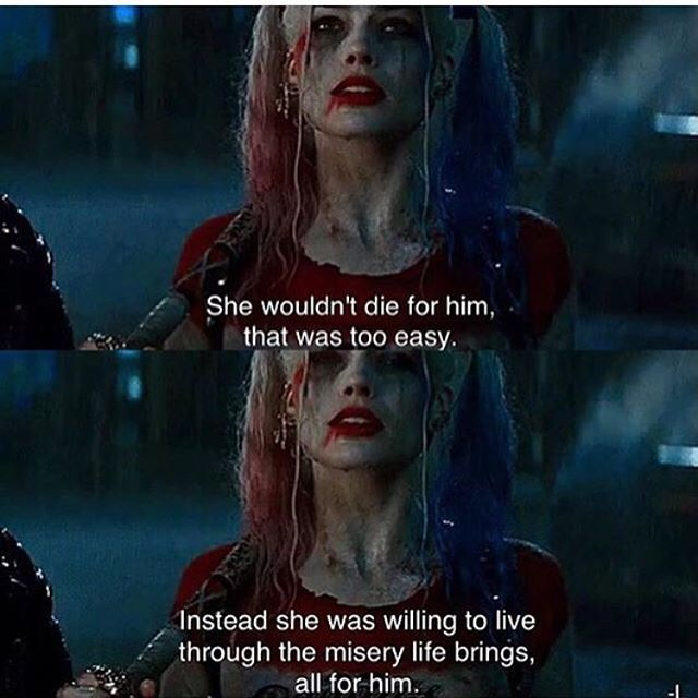 As The Quote Says Description Harley Quinn