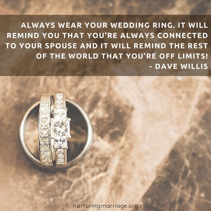 As The Quote Says Description Always Wear Your Wedding Ring