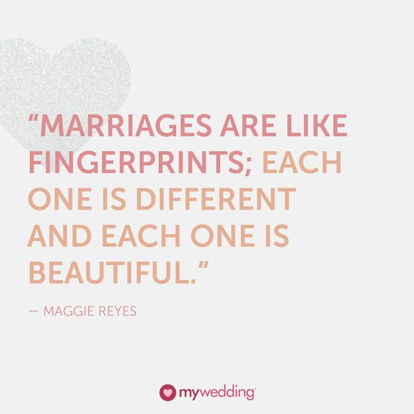 Short Marriage Quotes From The Bible: Quote About Wedding : Maggie Reyes Quote On Marriages As