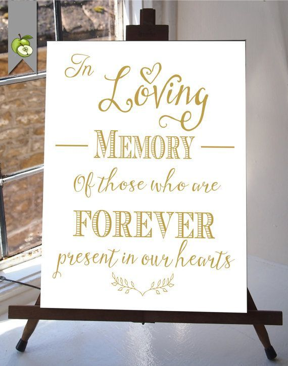 As The Quote Says U2013 Description. Quotes About Wedding : In Loving Memory ...