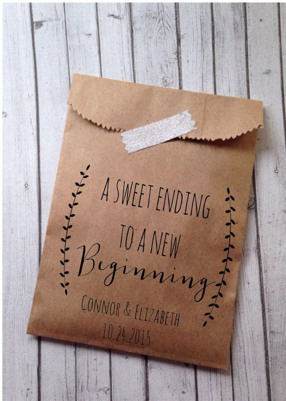 As The Quote Says Description Wedding Favor Bags