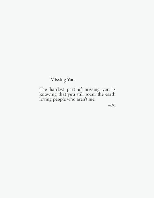Short quotes about missing someone