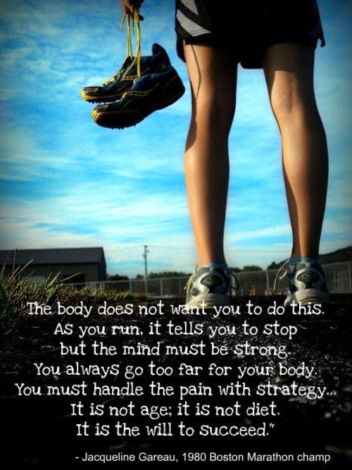 Best Health and Fitness Quotes : Half-Marathon Training ...