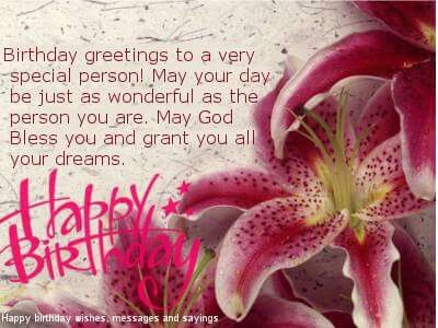 Birthday Quotes Happy Birthday To A Very Special Person Omg