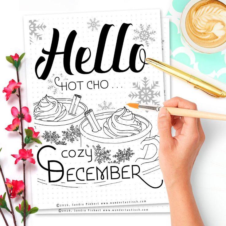 Hello December Free Printable December Bullet Journal Setup Omg