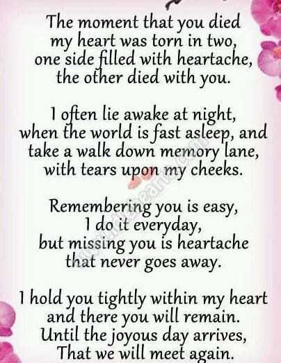 Missing Quotes : In loving memory of my big sis..gone 2 ...