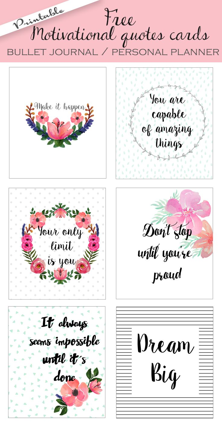 Positive Quotes Downloaded Kb Free Printable Bullet Journal