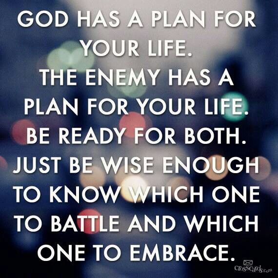 Life Quotes & Inspiration : Gods plan or the devils? Always ...