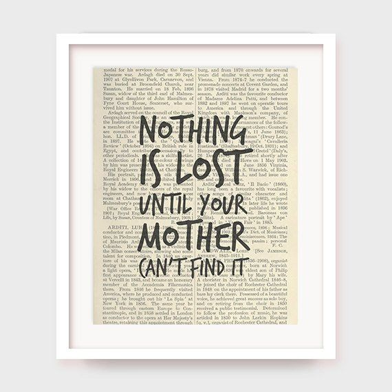 Mother s Day Quotes Gift For Mothers Day Nothing is Lost