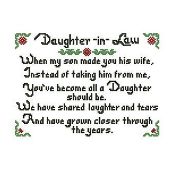 Mothers Day Quotes : All stitches – daughter in law cross ...